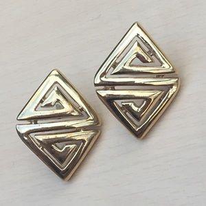 Vintage Monet gold earrings